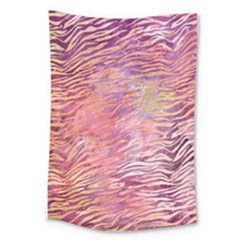 Funny Galaxy Tiger Pattern Large Tapestry by tarastyle