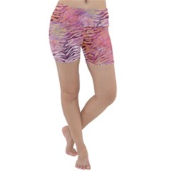 Funny Galaxy Tiger Pattern Lightweight Velour Yoga Shorts by tarastyle
