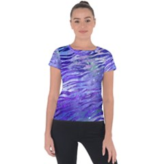 Funny Galaxy Tiger Pattern Short Sleeve Sports Top  by tarastyle