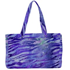 Funny Galaxy Tiger Pattern Canvas Work Bag by tarastyle