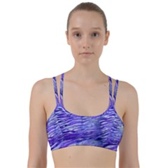 Funny Galaxy Tiger Pattern Line Them Up Sports Bra