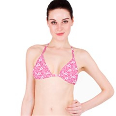 Colorful Tropical Hibiscus Pattern Bikini Top by tarastyle