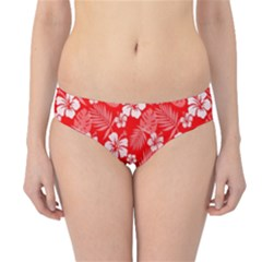 Colorful Tropical Hibiscus Pattern Hipster Bikini Bottoms by tarastyle
