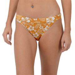 Colorful Tropical Hibiscus Pattern Band Bikini Bottom by tarastyle