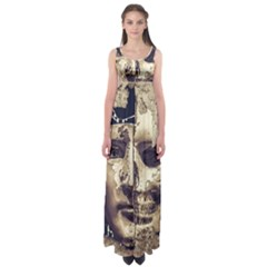 Creepy Photo Collage Artwork Empire Waist Maxi Dress by dflcprintsclothing