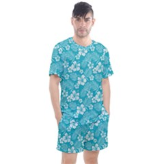 Colorful Tropical Hibiscus Pattern Men s Mesh Tee And Shorts Set by tarastyle