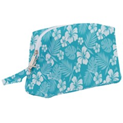 Colorful Tropical Hibiscus Pattern Wristlet Pouch Bag (large) by tarastyle