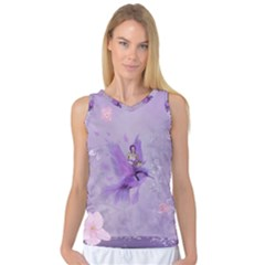 Fairy With Fantasy Bird Women s Basketball Tank Top by FantasyWorld7