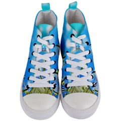 Fish Underwater Sea World Women s Mid Top Canvas Sneakers