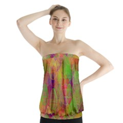 Easter Egg Colorful Texture Strapless Top