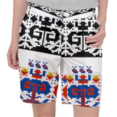 Folk Art Fabric Pocket Shorts