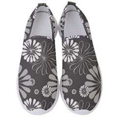 Floral Pattern Men s Slip On Sneakers