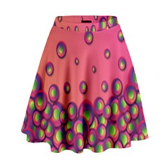Funny Texture High Waist Skirt