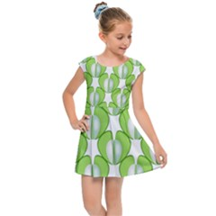 Herb Ongoing Pattern Plant Nature Kids  Cap Sleeve Dress by Desi8477
