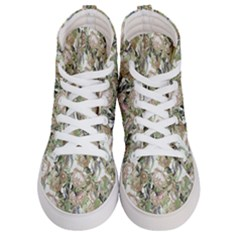 Romantic Beige Flowers Men s Hi Top Skate Sneakers