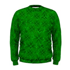 Leaf Clover Background Shamrock Men s Sweatshirt