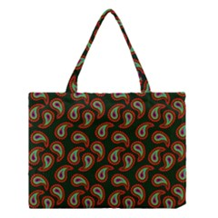 Pattern Abstract Paisley Swirls Medium Tote Bag by AnjaniArt