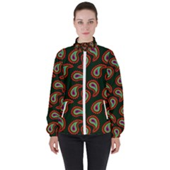 Pattern Abstract Paisley Swirls High Neck Windbreaker (women) by AnjaniArt