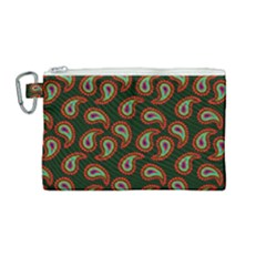 Pattern Abstract Paisley Swirls Canvas Cosmetic Bag (medium)