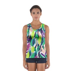 Leaves Rainbow Pattern Nature Sport Tank Top  by Desi8477