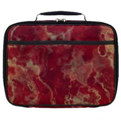 Marble Red Yellow Background Full Print Lunch Bag