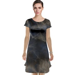 Marble Surface Texture Stone Cap Sleeve Nightdress