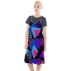 Memphis Pattern Geometric Abstract Camis Fishtail Dress