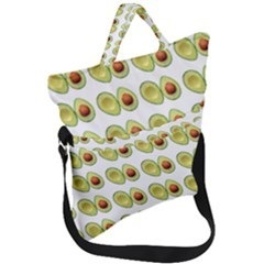 Pattern Avocado Green Fruit Fold Over Handle Tote Bag