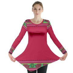 Ornaments Mexico Cheerful Long Sleeve Tunic