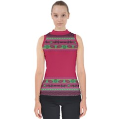 Ornaments Mexico Cheerful Mock Neck Shell Top