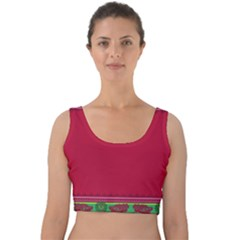 Ornaments Mexico Cheerful Velvet Crop Top