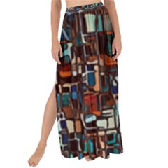 Mosaic Abstract Maxi Chiffon Tie Up Sarong