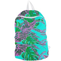 Painting Oil Leaves Nature Reason Foldable Lightweight Backpack