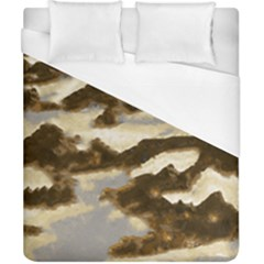 Mountains Ocean Clouds Duvet Cover (california King Size)