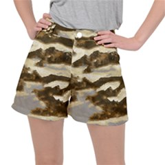 Mountains Ocean Clouds Stretch Ripstop Shorts