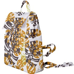 Pattern Leaves Buckle Everyday Backpack