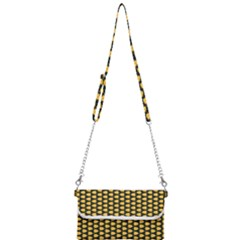 Pattern Halloween Pumpkin Color Yellow Mini Crossbody Handbag