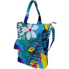 Pattern Leaf Polka Flower Shoulder Tote Bag