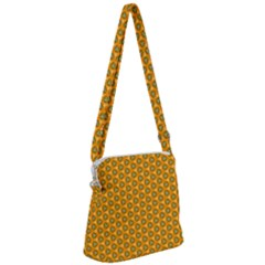 Pattern Halloween Pumpkin Color Leaf Zipper Messenger Bag