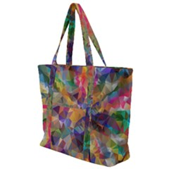 Polygon Wallpaper Zip Up Canvas Bag
