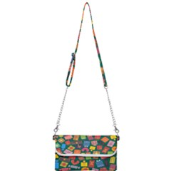 Presents Gifts Background Colorful Mini Crossbody Handbag
