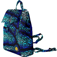 Sea Coral Stained Glass Buckle Everyday Backpack