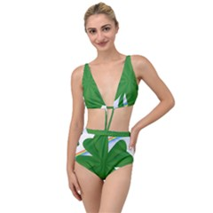 Shamrock Clover Saint Patrick Leaves Tied Up Two Piece Swimsuit