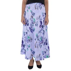 Vintage Roses Purple Flared Maxi Skirt