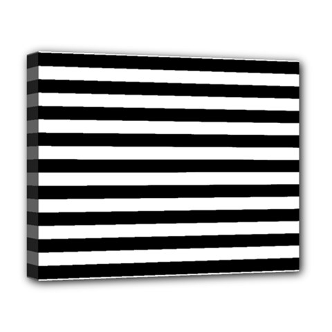 Black Stripes Deluxe Canvas 20  X 16  (stretched) by snowwhitegirl