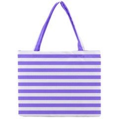 Lilac Purple Stripes Mini Tote Bag by snowwhitegirl