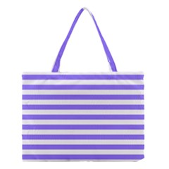 Lilac Purple Stripes Medium Tote Bag by snowwhitegirl