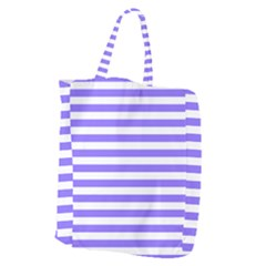 Lilac Purple Stripes Giant Grocery Tote
