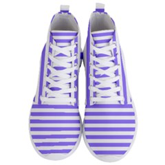 Lilac Purple Stripes Men s Lightweight High Top Sneakers