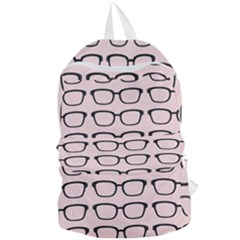 Nerdy Glasses Pink Foldable Lightweight Backpack